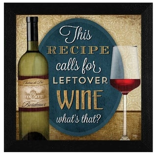 """""""Leftover Wine"""" By Mollie B., Printed Wall Art, Ready To Hang Framed Poster, Black Frame"""