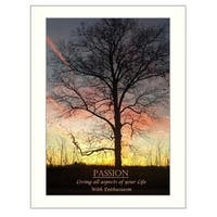 """Passion"" By Trendy Decor4U, Printed Wall Art, Ready To Hang Framed Poster, White Frame"