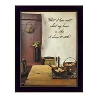 """""""What I love Most"""" By Susan Boyer, Printed Wall Art, Ready To Hang Framed Poster, Black Frame"""