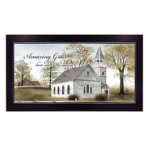 """""""Amazing Grace"""" By Billy Jacobs, Ready to Hang Framed Wall Art, Black Frame"""