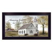 """Amazing Grace"" By Billy Jacobs, Printed Wall Art, Ready To Hang Framed Poster, Black Frame"