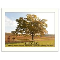 """Success"" By Trendy Decor4U, Printed Wall Art, Ready To Hang Framed Poster, White Frame"
