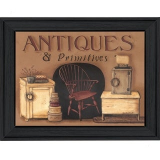 """Antiques & Primitives"" by Pam Britton Printed Framed Wall Art"