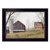 """Mail Pouch Barn"" By Billy Jacobs, Printed Wall Art, Ready To Hang Framed Poster, Black Frame"