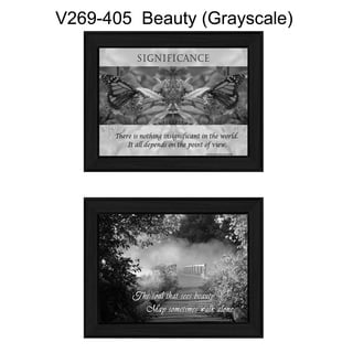 """""""Beauty"""" Collection By Trendy Decor4U, Printed Wall Art, Ready To Hang Framed Poster, Black Frame"""