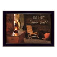 """""""Live Simply"""" By Lori Deiter, Printed Wall Art, Ready To Hang Framed Poster, Black Frame"""