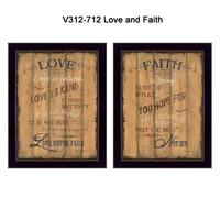 """""""Love and Faith"""" Collection By Debbie DeWitt, Printed Wall Art, Ready To Hang Framed Poster, Black Frame"""