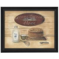 """""""Home Sweet Home"""" By Pam Britton, Printed Wall Art, Ready To Hang Framed Poster, Black Frame"""