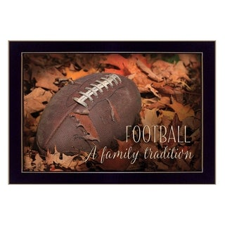 """""""Football - A Family Tradition"""" By Lori Deiter, Printed Wall Art, Ready To Hang Framed Poster, Black Frame"""