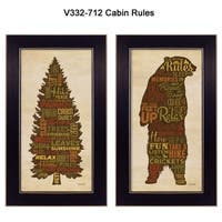 """Cabin Rules"" Collection By Lauren Rader, Printed Wall Art, Ready To Hang Framed Poster, Black Frame"