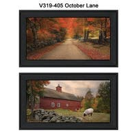 """""""October Lane"""" Collection By Robin-Lee Vieira, Printed Wall Art, Ready To Hang Framed Poster, Black Frame"""