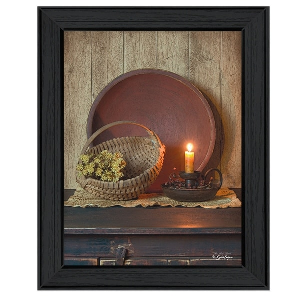 """""""The Red Bowl"""" By Susan Boyer, Printed Wall Art, Ready To Hang Framed Poster, Black Frame"""