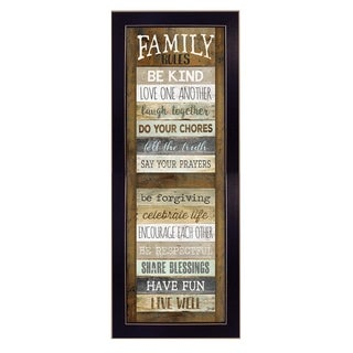 "Link to ""Family Rules Shutter"" By Marla Rae, Printed Wall Art, Ready To Hang Framed Poster, Black Frame Similar Items in Sinks"