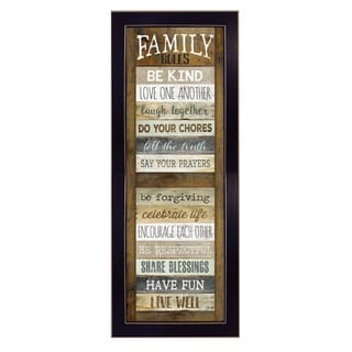 """Family Rules Shutter"" by Marla Rae Printed Framed Wall Art"