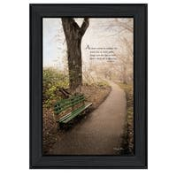 """""""Through the Mist"""" By Robin-Lee Vieira, Printed Wall Art, Ready To Hang Framed Poster, Black Frame"""