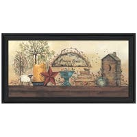 """Amazing Grace Shelf"" By Gail Eads, Printed Wall Art, Ready To Hang Framed Poster, Black Frame"