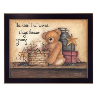 """""""Forever Young"""" By Mary June, Printed Wall Art, Ready To Hang Framed Poster, Black Frame"""