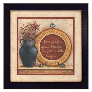 """""""Greatest Treasures"""" By Mary June, Printed Wall Art, Ready To Hang Framed Poster, Black Frame"""
