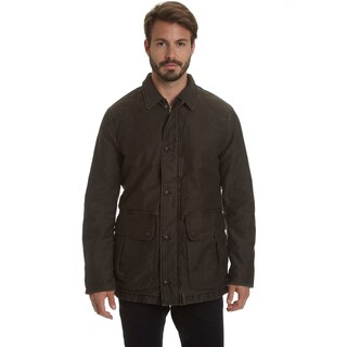Haggar Men's Weekend Washed Cotton Barn Coat