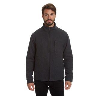 Haggar Men'S Comfort Stretch Water Resistant Lightweight Wool Blend Jacket
