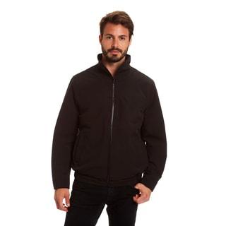 Haggar Men's Big and Tall Comfort Stretch Microfiber Golf Jacket