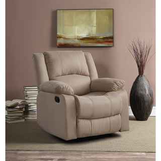 Relax A Lounger Beige/ Brown Porter Recliner by Lifestyle Solutions