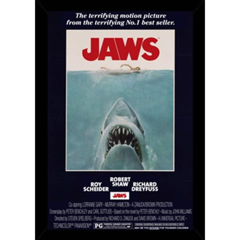 Jaws - One Sheet Poster With Choice of Frame (24x36)