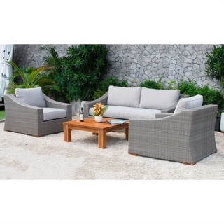 Poly Rattan 4PC Outdoor Seating Set