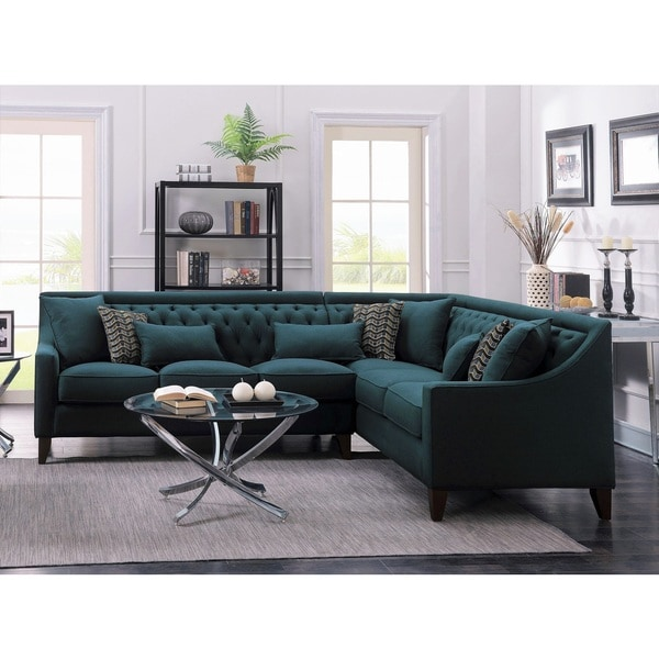 Chic Home Fulla Linen Tufted Back Rest Modern Contemporary Right Facing Sectional Sofa. Opens flyout.