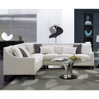Link to Chic Home Fulla Linen Tufted Backrest Left-facing Sectional Sofa Similar Items in Living Room Furniture