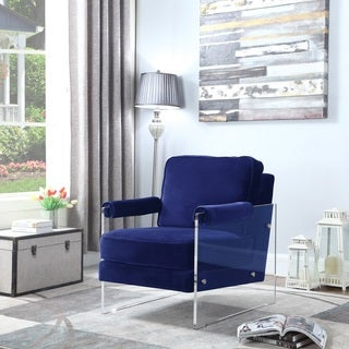 Chic Home Emman Modern Contemporary Acrylic Frame Upholstered Arm Velvet Accent Chair