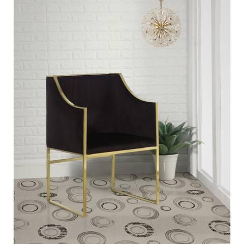 Chic Home Homer Modern Contemporary Steel Frame Velvet Accent Chair