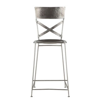 World Interiors Reclaimed Antique Nickel Counter-Height Stool