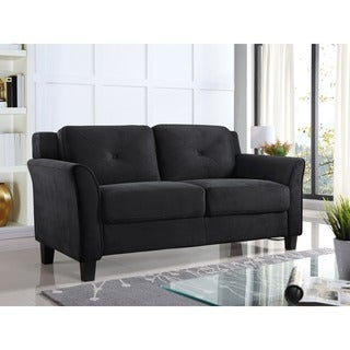 Lifestyle Solutions Harvard Microfiber/Wood Loveseat