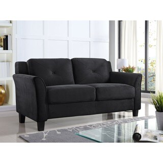 Lifestyle Solutions Harvard Microfiber/Wood Loveseat (2 options available)