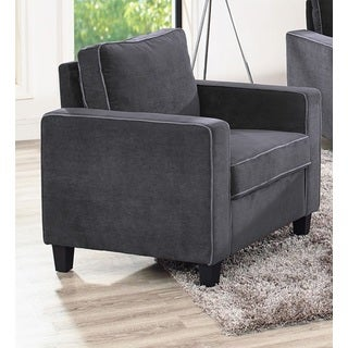 Lifestyle Solutions Grayson Grey Microfiber Arm Chair