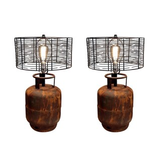 Pair of Industrial Tank Lamps