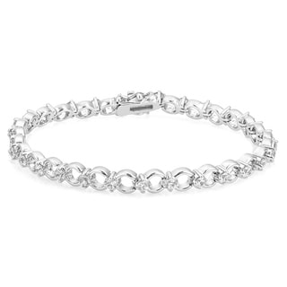 Infinity Circle Cubic Zirconia Bracelet - CLEAR