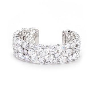 Bejeweled Cubic Zirconia Cuff - CLEAR