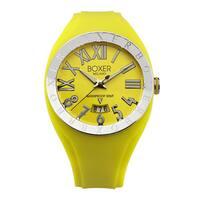 Boxer Men's Quartz Yellow Rubber Strap Watch