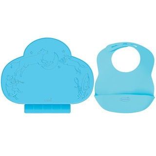 Summer Infant Tiny Diner Portable Placemat with Bibbity Portable Bib, Blue