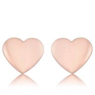 Janet Rose Gold Heart Stud Earrings
