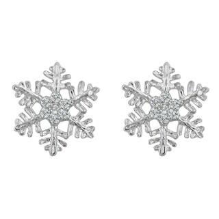 Snowflake Stud Earrings - CLEAR