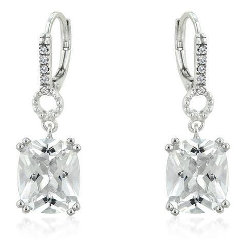 Timeless Radiant Drop Earrings - Clear