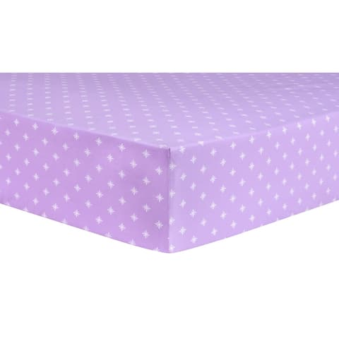 Trend Lab Stars Lavender Fitted Crib Sheet