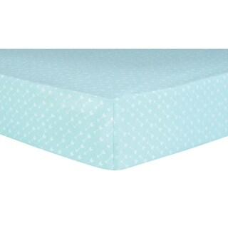 Trend Lab White Arrows Fitted Crib Sheet