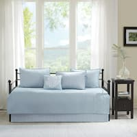 Madison Park Mansfield Blue Solid Reversible 6-piece Daybed Set