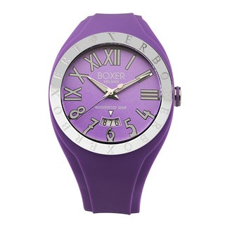 Boxer Men's Purple Rubber Quartz Strap Watch