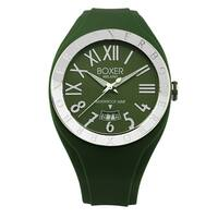 Boxer Green Rubber Strap Men's Quartz Watch