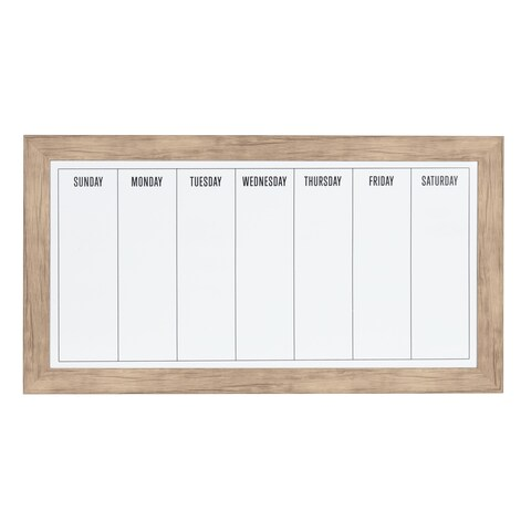 DesignOvation Beatrice Framed Magnetic Dry Erase Weekly Calendar